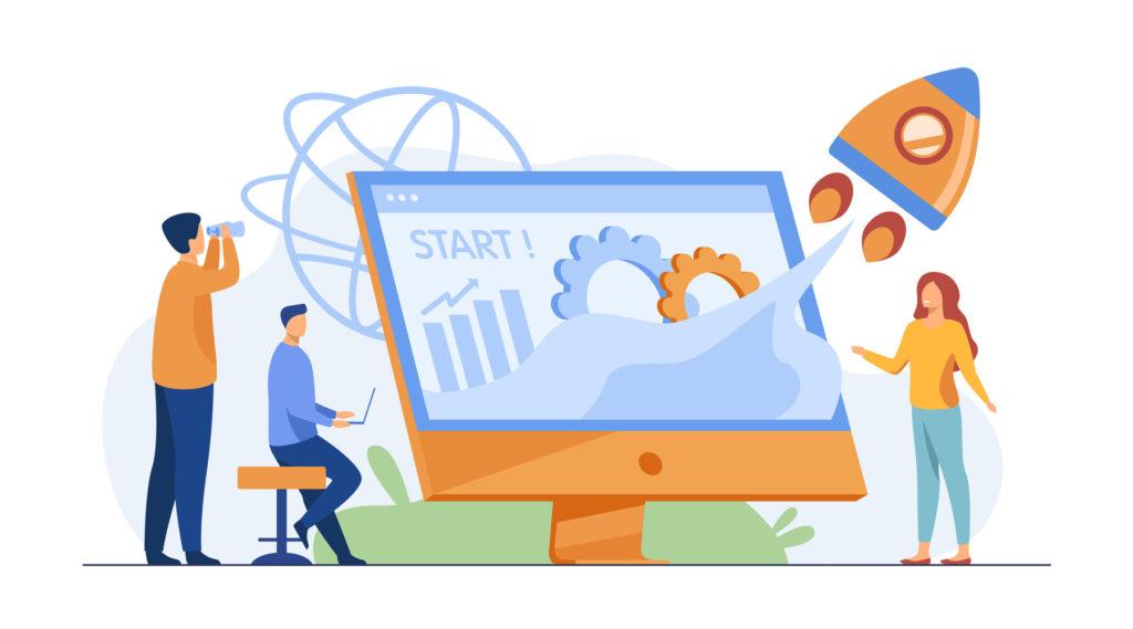 Team brainstorming pour une stratégie marketing